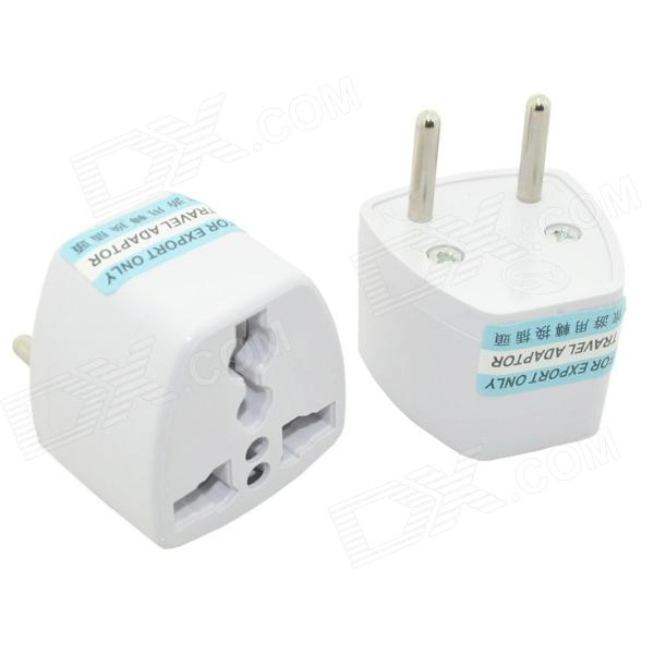 цена на Multi-Functional AC Power Socket Outlet Adapters - White (2 PCS / EU Plug)
