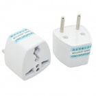 Multi-Functional AC Power Socket Outlet Adapters - White (2 PCS / EU Plug)