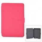 Ultrathin Protective PU Leather Case w/ Auto Sleep for Kindle Paperwhite - Deep Pink