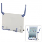 Portable Multifunctional 60' Adjustable ABS Music Book / Ipad Holder Stand - White + Blue