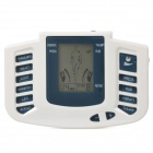 JR-309A Electrical Stimulator Full Body Relax Muscle Therapy Massager for Home Use - White + Blue
