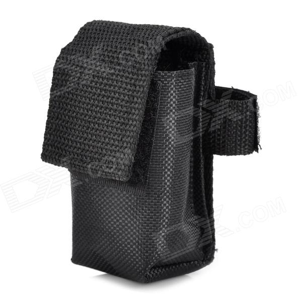 Protective Nylon 4 x 18650 Battery Pack Pouch - Black