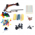Robotale FR4 Bread Board + Capacitors + Resistors + More Tool Set for Arduino - White + Multicolored