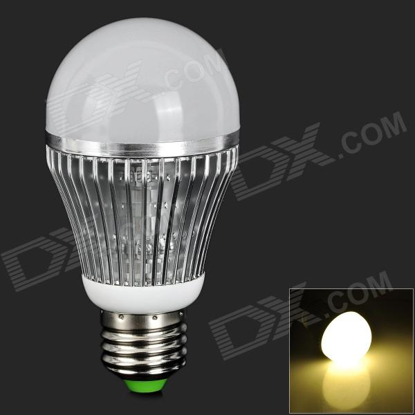 JRLED JR-LED-E27-7W-WW E27 7W 500lm 3300K 14-5730 SMD Warm White Light Bulb - Silver + White creative personality electroplating apple glass lamps and lanterns of restaurant contemporary single head bar led lamps