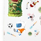 Cute DXman Style Cartoon Stickers Set