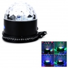 ZnDiy-BRY Z-068 8W 51-LED RGB + Laser Voice Control Ball Light - Black (EU Plug / 85~260V)