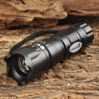 UltraFire MT-33 CREE XR-E P4-WC 80lm 3-Mode White Zooming Flashlight - Black (3 x AAA)