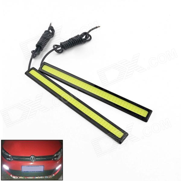 Waterproof 2.5W 200lm LED White Car Daytime Running Light Strip - (12V / 17cm / 2 PCS)