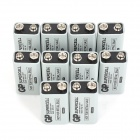 GP 1604S Mercury-Free Carbon 9V 6F22 Batteries - Black Grey (10 PCS)