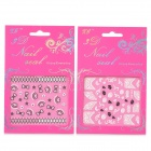 XF191197 3D Cute Pattern Nail Art Decoration Stickers - Black + White + Multicolored