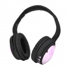 AT-BT805 Stereo Bluetooth V3.0 Headphone w/ TF / FM Radio / Mic - Black + Fuschia