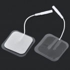 4 x 4cm Acupuncture Slimming Digital Therapy Machine Massage Electrode Pads - White + Black (10 PCS)