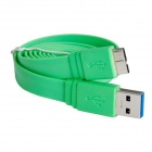 USB Flat Charging Data Cable for Samsung Galaxy Note 3 N9000 / N9002 / N9005 - Green (100cm)