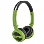 DAZA D600 Stereo Wireless Headphone MP3 Player w/ TF / FM Radio - Black + Green