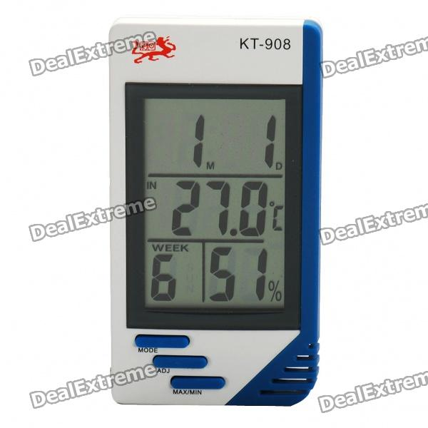 Indoor/Outdoor Digital Humidity/Temperature with Clock (1 x AAA)