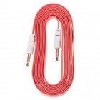 3.5mm TRS Male to Male Audio Flat Cable - Red + White (2m)