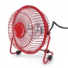 Mini Desktop 250W Solar Fan Heater - Red (220V)