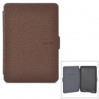 Ultra-Slim Protective PU Flip-Open Smart Case for Amazon Kindle Paper White - Brown