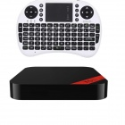 Ourspop XII + i8 Air Mouse Quad-Core Android 4.2.2 Google TV Player w/ 2GB RAM / 8GB ROM-US Plug