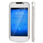 "BML D5 / E21 Android 4.2 GSM Bar Phone w/ 4.0"" Capacitive Screen, Dual Network Standby - White"