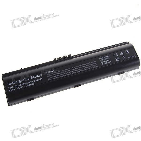 HP DV2000 Compatible 4400mAh Replacement Battery for HP DV2000/DV6000/V3000/V6000 Series