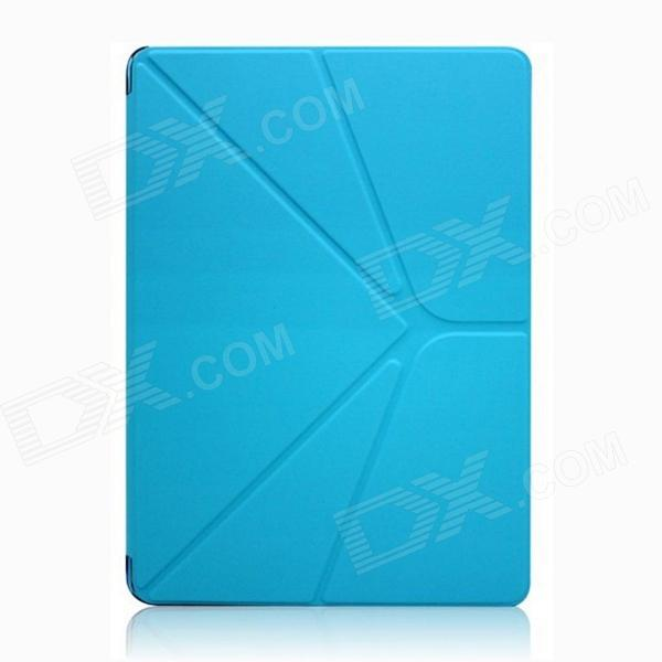 Protective PU Leather Case Stand w/ Auto Sleep Cover for Ipad AIR - Blue samdi ultra thin protective pu leather case cover stand w auto sleep for ipad air blue