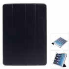 Stylish Ultra Thin Protective PU Leather Case Cover Stand w/ Auto Sleep for Ipad AIR - Black
