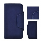 Angibabe ATHENA-5 Detachable PU Leather Case Cover w/ Card Slot for Iphone 5 / 5s - Sapphire Blue