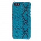 SAYOO 2412 Snakeskin Striation PU Leather Mobile Phone Protective Back Case for Iphone 5C - Blue