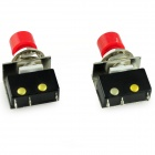HZDZ DS-428 Micro Switch - Red + Silver + Negro (5A / 250V / 2 PCS)
