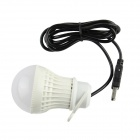 USB Powered Flexible Neck White 4-LED Light - White
