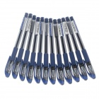 M&G AGP63201 0.38mm Comfortable Grip Blue Gel Ink Pen - Dark Blue (12 PCS)