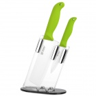 "TIMHOME KITCHENWARE U 4"" + 6"" Zirconia Ceramic Knife Set - Green + White"
