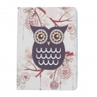 Stylish Owl Pattern Protective PU Leather Case Cover Stand for Ipad AIR - White + Deep Purple + Blue