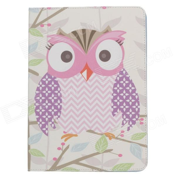 Stylish Owl Pattern Protective PU Leather Case Cover Stand for Ipad AIR - Multicolored 22000mah power bank w dual usb led flashlight for tablet pc pink