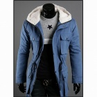 British Style More Pocket Hooded Jacket - Blue (Size-M)