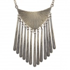 Tassel Shaped Necklace Zinc Alloy - Bronze