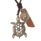 Cute Turtle PU Leather Necklace - Bronze