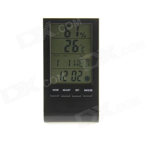 3 LCD Multi-Functional Digital Thermometer / Hygrometer / Clock / Phases of the Moon - (1 x AG10) кухонная мойка ukinox cml 465 gt r