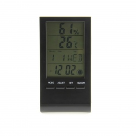 "3"" LCD Multi-Functional Digital Thermometer / Hygrometer / Clock / Phases of the Moon - (1 x AG10)"