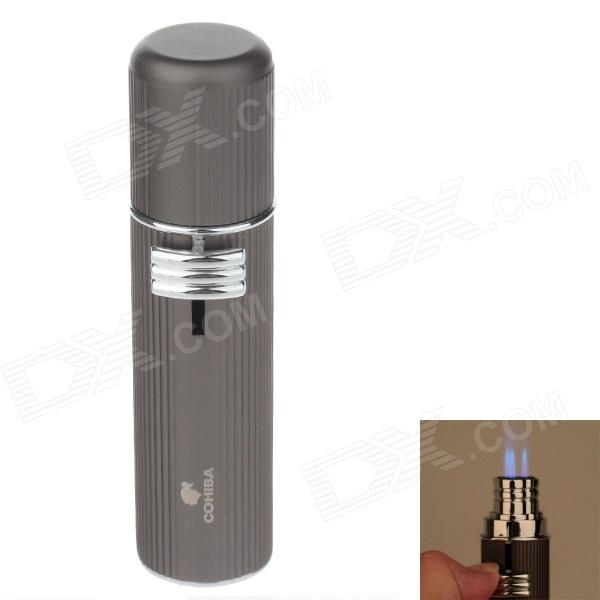 COHIBA 5356A Fashionable Zinc Alloy Three Holes Strong Fire Gas lighters - Grey  домкрат белак бак 00531 2т