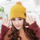 Women's Lovely Winter Warm Hat - Yellow