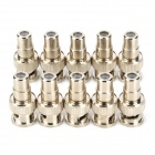 LSON LS-Y RCA Male Jack to BNC Male Plug Connector Adapter - Silver (10 PCS)