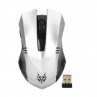 Buy Jiete 3233 2.4Ghz Wireless 1000/1600DPI Optical Mouse - Antique Silver + Black