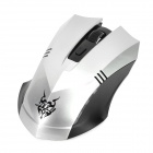 Jiete 3233 2.4Ghz Wireless 1000/1600DPI Optical Mouse - Antique Silver + Black