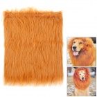 Pet Dog Lion Cosplay Wig - Brown (M Size)
