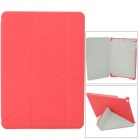 Stylish Flip-open PC + PU Leather Case w/ Holder + Auto Sleep for Ipad AIR - Red