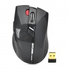 Jiayibing M3 2.4GHz USB 2.0 1600dpi Wireless Optical Mouse - Black (1 x AA)