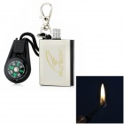 HGYBEST Steel Reusable Matchstick Wilderness Survival Keychain + Compass