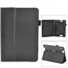 """Protective Flip-open PU Leather Case w/ Holder for Kindle Fire HDX 7"""" - Black"""